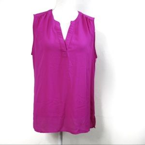 C17 Chaus NY Pink Sleeveless Blouse Size Large